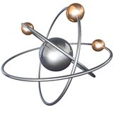 Atom structure on a black background Stock Images