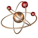 Atom structure on a black background Stock Photography
