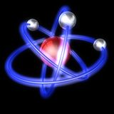 Atom structure on a black background Royalty Free Stock Photo