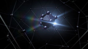 Atom structure for technology Royalty Free Stock Images