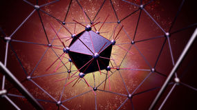 Atom structure for technology Stock Photos