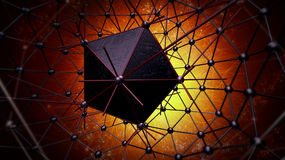 Atom structure for technology Royalty Free Stock Photography