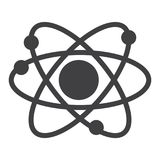 Atom struktury ikony wektor Obrazy Stock