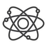 Atom struktury linii ikona Zdjęcie Royalty Free