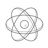 Atom struktury wektoru linii ikona Obrazy Royalty Free