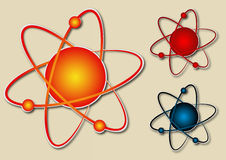 Atom symbol stock illustration