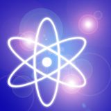 Atom symbol. Light and atom symbol Royalty Free Stock Photos