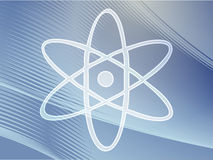 atom- symbol Arkivfoto