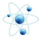Atom symbol with a globe.  vector illustration