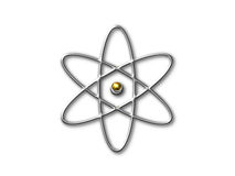 Atom symbol with gold core Stock Photography