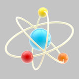Atom symbol isolated Stock Photo