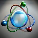 Atom symbol, molecule structure Stock Photo