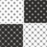 Atom Symbol o Atom Sign Seamless Pattern Set Immagine Stock