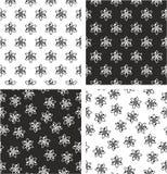 Atom Symbol ou Atom Sign Aligned et ensemble sans couture aléatoire de modèle Image stock