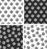 Atom Symbol ou Atom Sign Freehand Aligned et ensemble sans couture aléatoire de modèle Image libre de droits