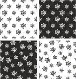 Atom Symbol ou Atom Sign Freehand Big et petit ensemble sans couture aligné et aléatoire de modèle Image stock
