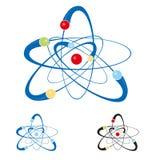 Atom symbol set isolated Stock Image