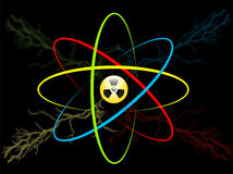 Atom symbol. Vector atom radiation Stock Images