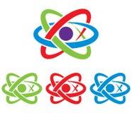 Atom symbol. Vector. Royalty Free Stock Photo