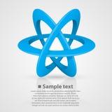 Atom symbol on a white background Stock Photos