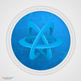 Atom symbol on a white background Stock Images