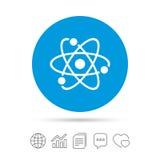 Atom szyldowa ikona Atom części symbol Zdjęcia Royalty Free