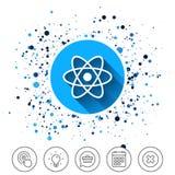 Atom szyldowa ikona Atom części symbol Zdjęcia Stock