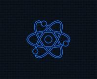 Atom szyldowa ikona Atom części symbol Fotografia Stock