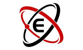 Atom Technology Initial E Stock Photo