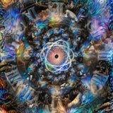 Atom time vector illustration