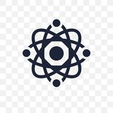 Atom transparent icon. Atom symbol design from Science collectio vector illustration