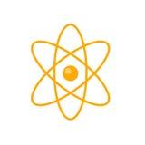 Atom Vector Illustration nella progettazione piana di stile Immagine Stock Libera da Diritti