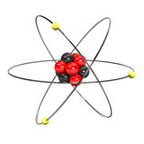Atom Visualisation. 3D Illustration of an atom on white Royalty Free Stock Image