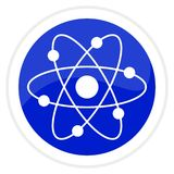 Atom web button Royalty Free Stock Photo