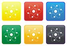 Atom web button Stock Image