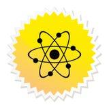 Atom Web Button Stock Photo