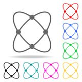 Atom web icon. Elements in multi colored icons for mobile concept and web apps. Icons for website design and development, app deve Stock Image