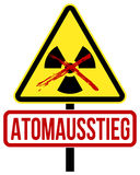 Atomausstieg. Coloured concept with the German word Atomausstieg vector illustration