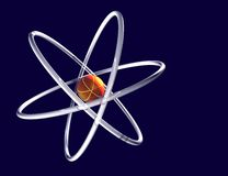 Atomauszug Stockfoto