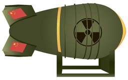 Atombombe der chinesischen Luftfahrt Stockfoto