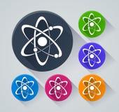 Atomcirkelsymboler med skugga Royaltyfri Bild