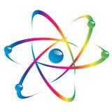 Atomdel på vit bakgrund. royaltyfria foton