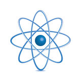 Atomdel på vitbakground. Royaltyfria Foton