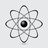 Atomdel på vitbakground. Arkivbild