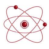 Atomdel på vitbakground. Royaltyfri Fotografi