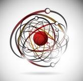 Atome abstrait illustration stock