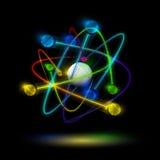 Atome abstrait illustration de vecteur