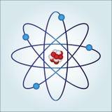 Atome avec le necleus et les protons Image stock