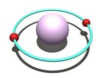 Atome d'hélium illustration de vecteur