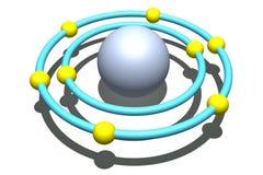 Atome d'oxygène sur le fond blanc illustration de vecteur